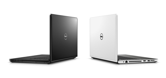 The Dell Insprion 5459 is in black and white