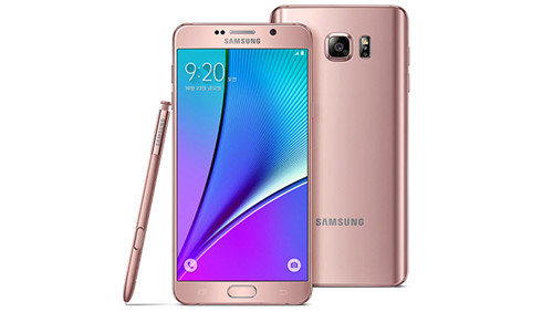The Note 5 in Pink Gold color - Photo: Samsung