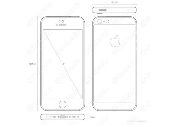 New design drawings reveal that this will be the 4-inch iPhone