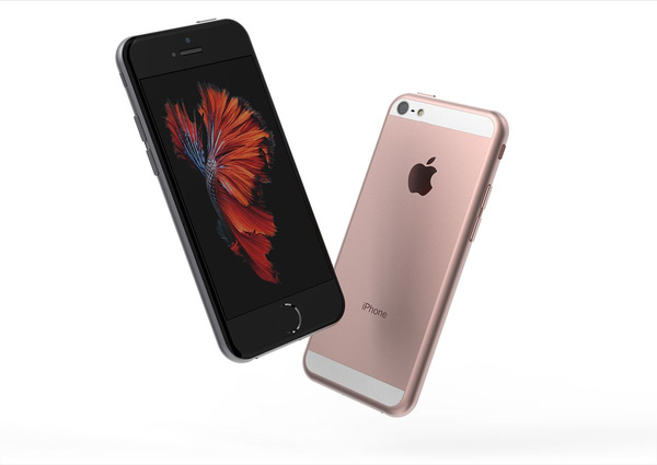 The iPhone 5SE - front and back side