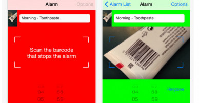 Become a morning person with Barcode Alarm Clock