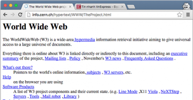 The first website in the world turned 25-year-old this year