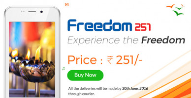 An Indian smartphone priced at Rs 251 ($ 4) could be a scam?