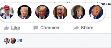 Way to replace Facebook's New Reaction buttons with pictures of Pokemon or even Donald Trump